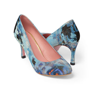 Blue Abstract High Heels