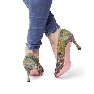 Green Abstract High Heels