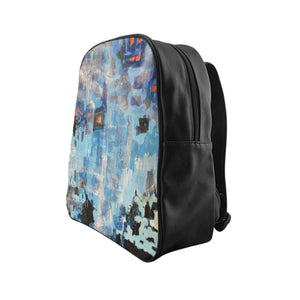 Blue Abstract - School Backpack