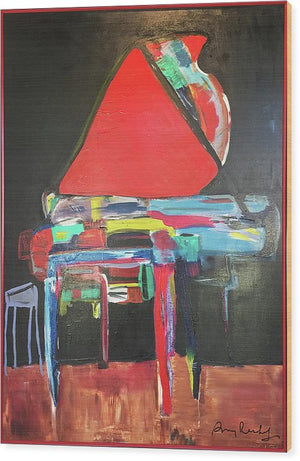 Art Piano - Wood Print