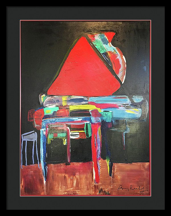 Art Piano - Framed Print