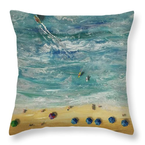 Beach From Above - Throw Pillow