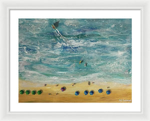 Beach From Above - Framed Print