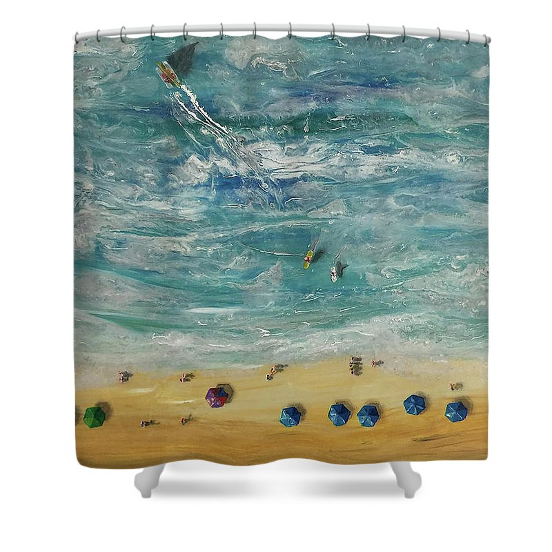 Beach From Above - Shower Curtain