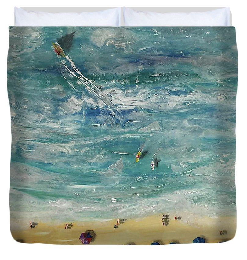 Beach From Above - Duvet Cover