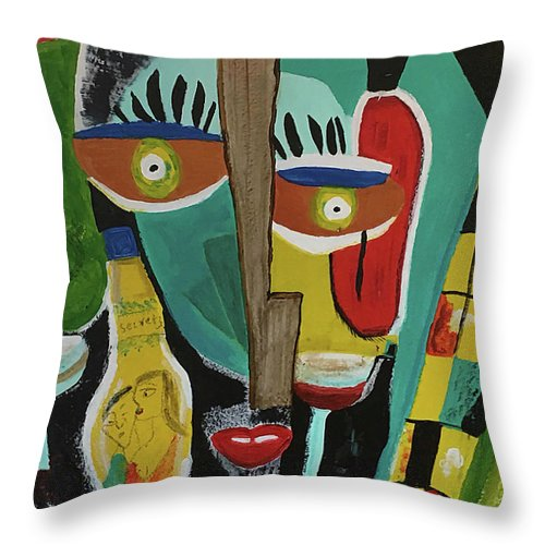 Drunken Artist - Throw Pillow