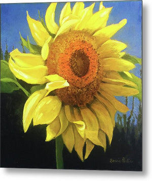 First Sunflower - Metal Print