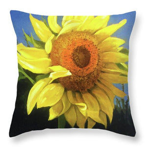 First Sunflower - Throw Pillow