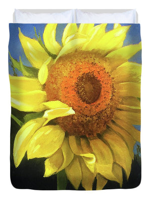 First Sunflower - Duvet Cover