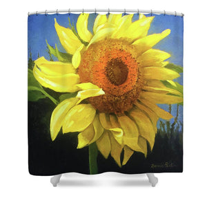 First Sunflower - Shower Curtain