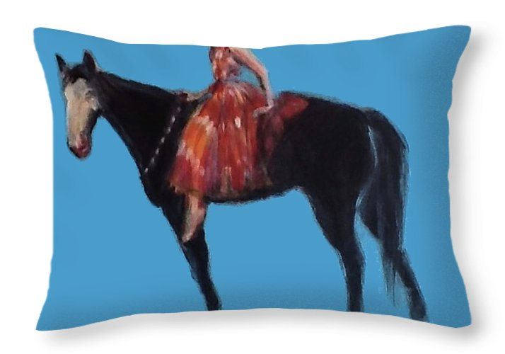 Lady Jewel - Throw Pillow
