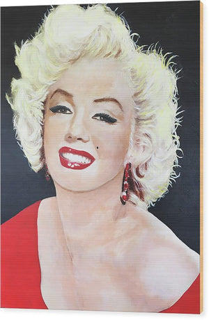 Marylin Monroe - Wood Print