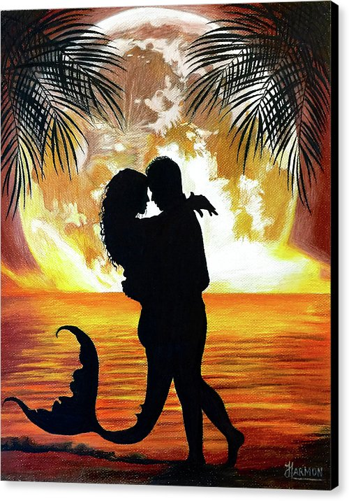 Mermaid Love - Canvas Print