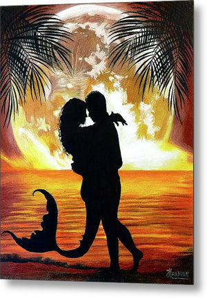 Mermaid Love - Metal Print