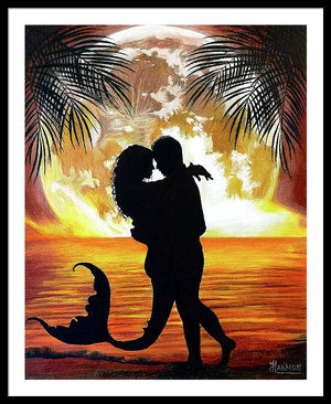 Mermaid Love - Framed Print