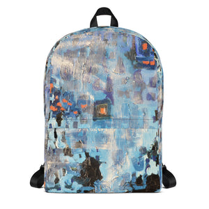Blue Abstract Backpack