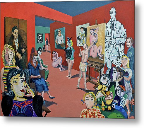 Picasso And Picasso - Metal Print
