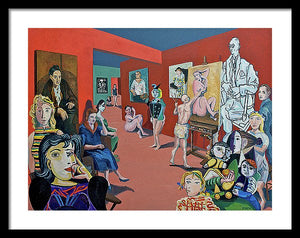 Picasso And Picasso - Framed Print