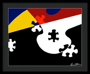 Puzzle Black And White - Framed Print