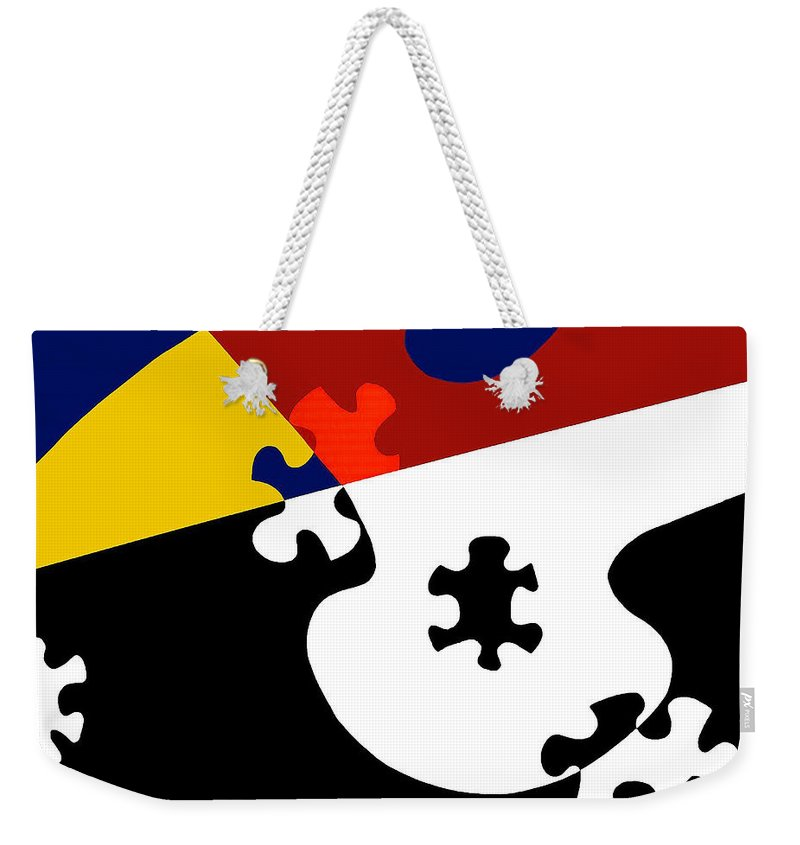 Puzzle Black And White - Weekender Tote Bag
