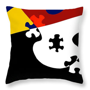 Puzzle Black And White - Throw Pillow