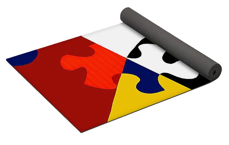 Puzzle Black And White - Yoga Mat