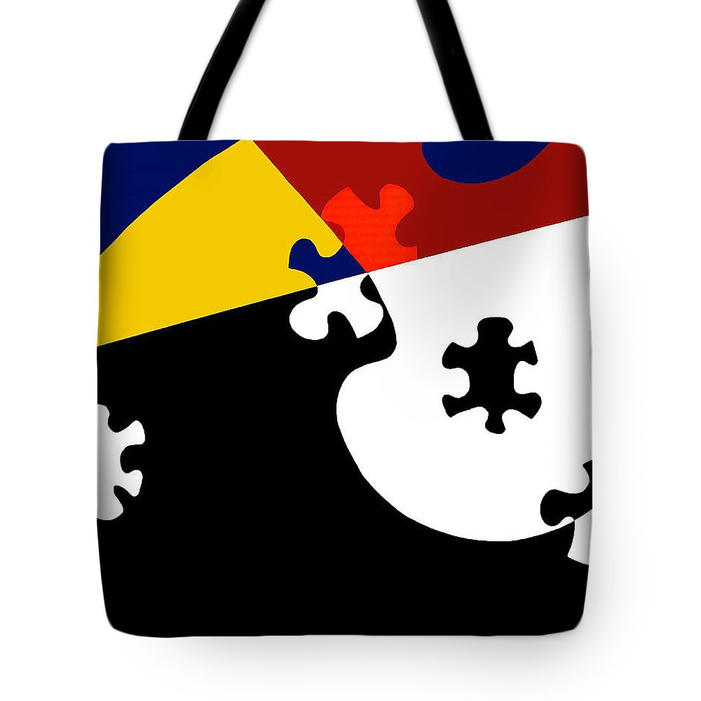 Puzzle Black And White - Tote Bag