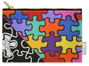 Puzzle Colors With Black And White - Carry-All Pouch