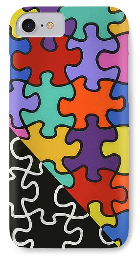 Puzzle Colors With Black And White - Phone Case