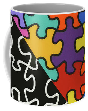 Puzzle Colors With Black And White - Mug