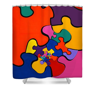 Puzzle Inception - Shower Curtain