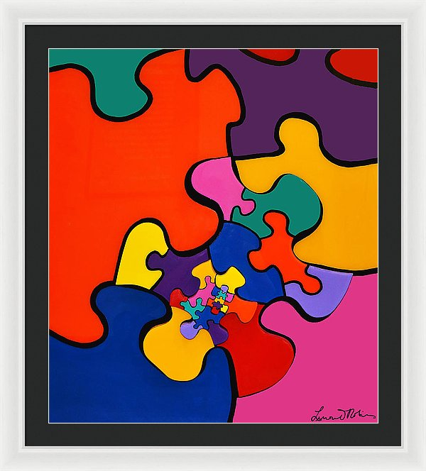 Puzzle Inception - Framed Print