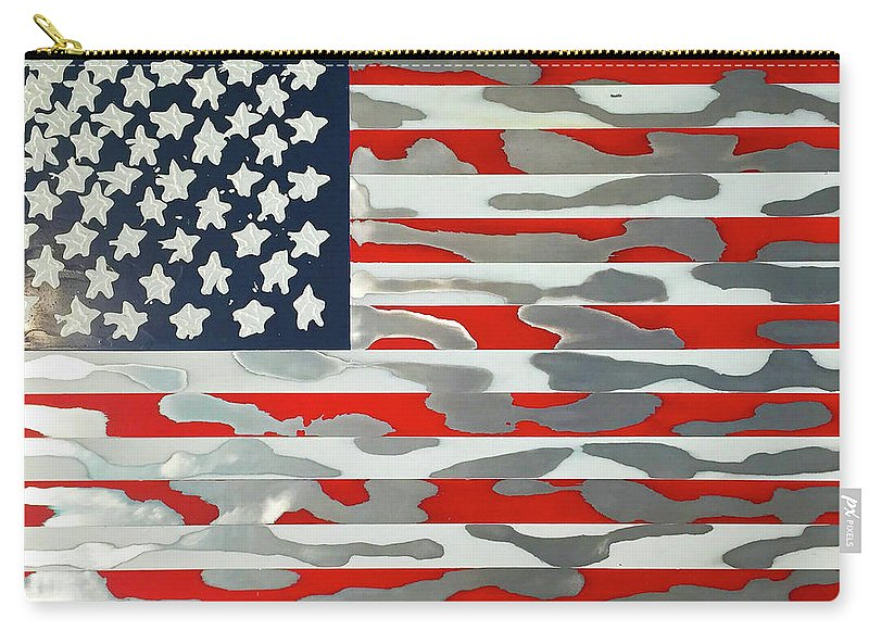 U.s. Flag Ripped - Carry-All Pouch