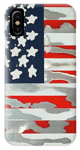 U.s. Flag Ripped - Phone Case