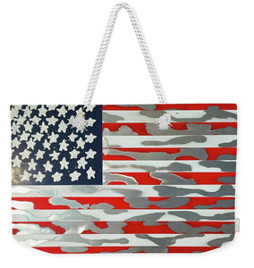 U.s. Flag Ripped - Weekender Tote Bag