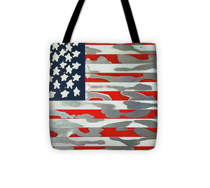 U.s. Flag Ripped - Tote Bag