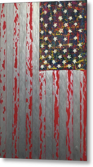 U.s. Flag Vertical - Metal Print
