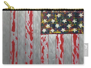 U.s. Flag Vertical - Carry-All Pouch