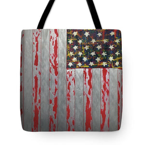 U.s. Flag Vertical - Tote Bag