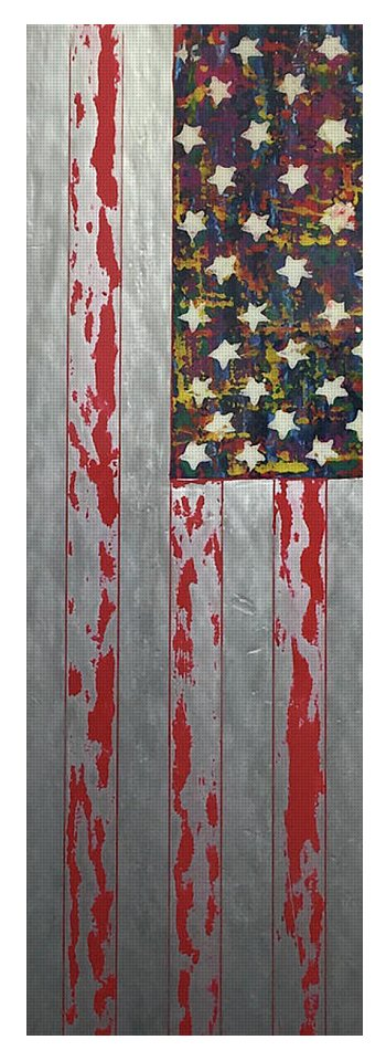 U.s. Flag Vertical - Yoga Mat