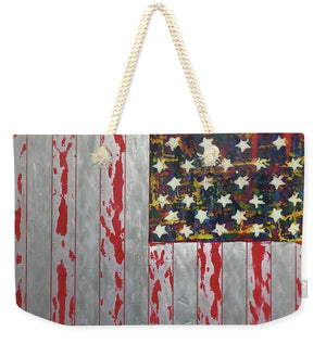 U.s. Flag Vertical - Weekender Tote Bag