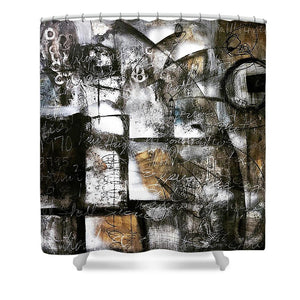 Written In Stone - Shower Curtain