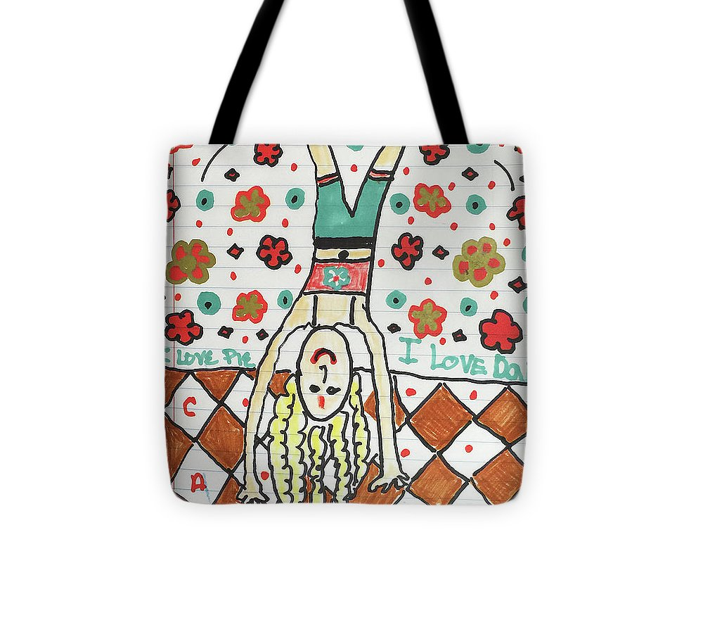 Yoga Princess Upside Down - Tote Bag