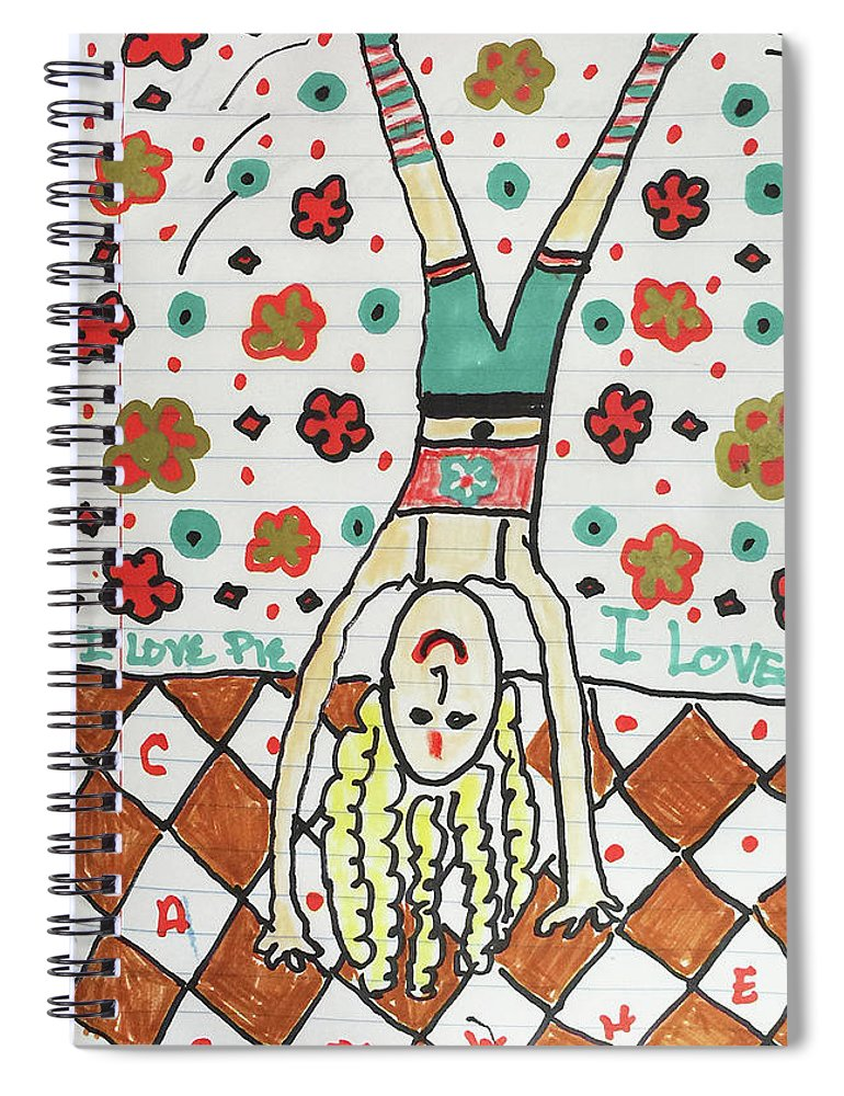 Yoga Princess Upside Down - Spiral Notebook