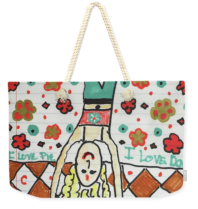 Yoga Princess Upside Down - Weekender Tote Bag