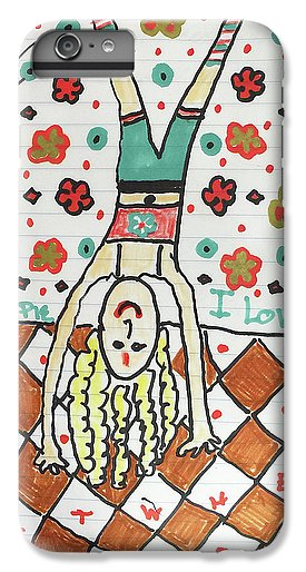 Yoga Princess Upside Down - Phone Case