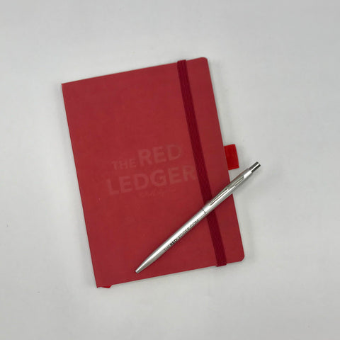 Red Ledger Notebook & Pen Set