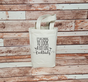 It's Beginning To Look A Lot Like Cocktails - Wine Bags