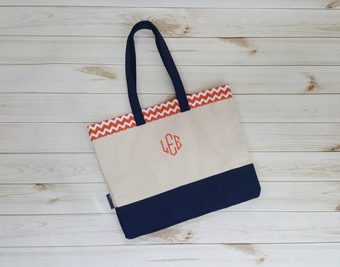 Monogram Canvas Beach Bag