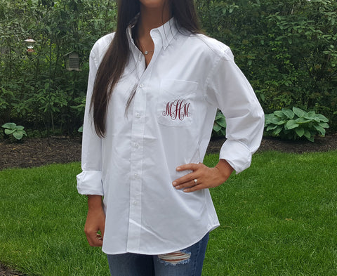 Monogrammed Button Down Shirts Bridesmaid Shirt